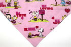 Snoopy Peanuts Pink Valentine bandana, dog bandana, over the collar