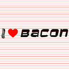 I Love Bacon Decal Sticker Heart Pig Piggy Funny Meme Lol