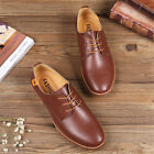 Men's Fashion British style oxfords leather Shoes Dress Formal Multi Casual Size