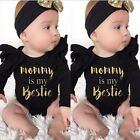 2PCS Newborn Infant Baby Girl Boy Romper Bodysuit+Headband Clothes Outfits Sets