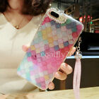 New Fashion Bling Diamond Glitter Rainbow Soft Clear Phone Case Cover For iPhone