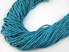 20 Strands Sleeping Beauty 1.75X.5mm - 2X2.25mm Heishi Beads hand cut 12""