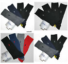 4 Pack Polo Ralph Lauren Men\'s Dress Socks 4 Pair Ribbed Black Navy Gray Red