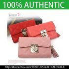 [OMNIA]Crystal Ladies Wallet Genuine Leather Trifold Purse ID Card Coins Bag338M