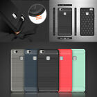 Hybrid Brushed Carbon Fiber TPU Rubber Shockproof Case Cover For Huawei Honor