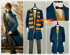 Fantastic Beasts and Where to Find Them Newt Scamander Blue Cosplay Costume Full