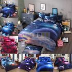 3 Pcs Bedding Cover Set 3D Printed Galaxy Single/Queen Size Sky Cosmos Pattern