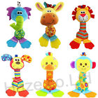 Baby Colorful Rattle Cute Plush Toy with BB Voice and Gum