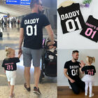 Family Matching Outfits Mens DADDY KID BABY Shirt Cotton T-shirt Couple Clothes