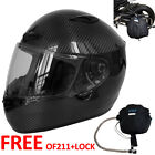 Free Oxford BAG OF211 & Lock + Leopard LEO-958 Carbon Full Face Motorbike Helmet