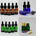 1~10 sets Glass Empty Essential Bottles Oils Dropper Eye Aromatherapy 10ml, 5ml