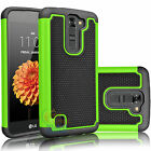 Protective Rugged Armor Hybrid Rubber Back Phone Case Cover for LG Treasure LTE
