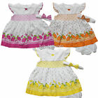 Внешний вид - NWT Baby Girls Dress w Diaperwear Headband Clothes Outfit size 0 3 6 9 months