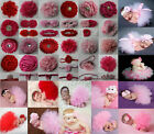Newborn Baby Tutu Clothes Skirt Headdress Flower Photo Photography Prop Outfit