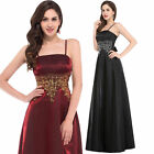 Vintage Long Wedding Party Evening Dress Bridesmaid Ball Gown Formal Cocktail UK