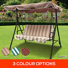 3 Seater Outdoor Swing Chair Canopy Strong Steel Frame Hanging Bench Garden Deck
