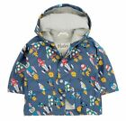 Hatley Boys Dark Blue Rockets Waterproof Raincoat Hooded Jacket Coat 6-12mths