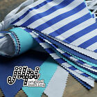 3m -12m JILPI SUPER SEASIDE BLUE FABRIC BUNTING, PLAIN, STRIPED, VINTAGE CHIC!