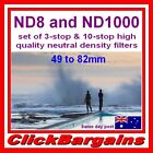 ND8 & ND1000 FILTER SET (3 & 10-stop ND) PRO NEUTRAL DENSITY CAMERA LENS FILTERS
