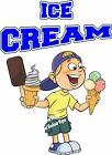 Ice Cream DECAL (CHOOSE YOUR SIZE) BBQ Food Truck Sign Restaurant Concession