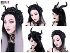 Restyle Gothic Hair Garland Headband Maleficent Nu Goth Princess Flower Horns