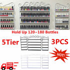 New Metal Wire Nail Polish Display Organizer Wall Rack Hold Up 120~180 Bottles V