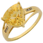 CITRINE 2.00 CT. CHAMPAINE DIAMIOND RING IN 925 G. P. STERLING SILVER JEWELRY