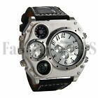 Hot Men's Luxury Quartz Sport Military Leather Band Stainless Steel Wrist Watch