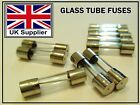 FUSES 5x20mm Quick Fast Blow Glass Tube Fuse in 1/2/4/5/10/15/20/25 Amp 250 Volt
