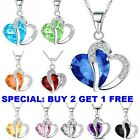 Kyпить Fashion Women Heart Crystal Rhinestone 925 Silver Chain Pendant Necklace Charm  на еВаy.соm