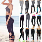 Hot Womens Running Yoga Keep Fit Leggings Gym Running Sport Pants Trousers L275