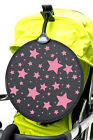 My Buggy Buddy Sun Shade Clip on Parasol Pram Shade STARS Design,  Pink or Blue
