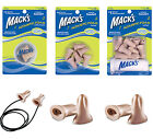 Mack's Acoustic Foam Earplugs Macks Musicians Concerts Nightclubs Work Ear plugs