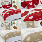 Layla Love Hearts 6pc Complete Bed In A Bag Duvet Cover Bedding Set Red Gold