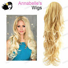 """Annabelles Wigs 27"""" Synthetic Curly Half Head Wig #AB13"""