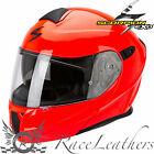 SCORPION EXO 920 NEON RED FLIP UP FRONT MODULAR MOTORCYCLE TOURING HELMET