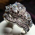 Stunning Vintage Style 2 or 3 pcs 2.3ctw CZ Women's Engagement Wedding Ring set