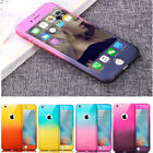 360° Shockproof Full Body Hybrid Tempered Glass Case Cover For iPhone 6 7 8 Plus