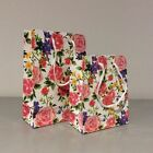 3 Pretty Floral Flower Gloss Gift Bags Cord Handles Strong 2 sizes Bag