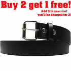 Men's Casual Black Dress Leather Belt w/ Buckle New 34 36 38 40 42 up to 52