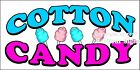(Choose Your Size) Cotton Candy DECAL Food Truck Van Sign Restaurant Concession