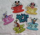 DISNEY TEA PARTY FAB5 You Choose Printed Paper Piece for Scrapbook Pages SSFFDeb