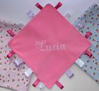 Personalised Girls Ribbon Tag Blanket - Comforter - Taggy - CE SAFETY TESTED