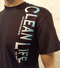 Narcotics Anonymous - CLEAN LIFE  T-Shirt  -Black w/ White & Blue Ink  100% cott