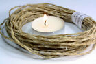 Organic Beeswax HEMP Candle wick -TWINE Crafts -E Wick- Candle - holds flame-