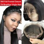 360 Lace Band Frontal Closure Virgin Human Hair Pre Plucked With Baby Hair P972