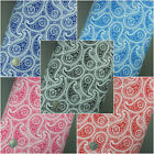 New Paisley Floral Polycotton Fabric - High Quality Lightweight Material