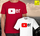 Youtube Player T-Shirt Youtuber Gift Funny Adults Kids Bro Viral Christmas Fan
