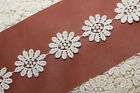 IVORY CREAM Dovecraft Flat 25mm DAISY FLOWER LACE TRIM Antique Vintage Wedding