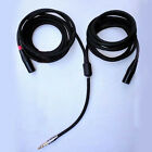 Y85 6.35mm 1/4''  Stereo to Dual/2 XLR Choseal 4N-OFC unBanlanced Cable 2ft-17ft